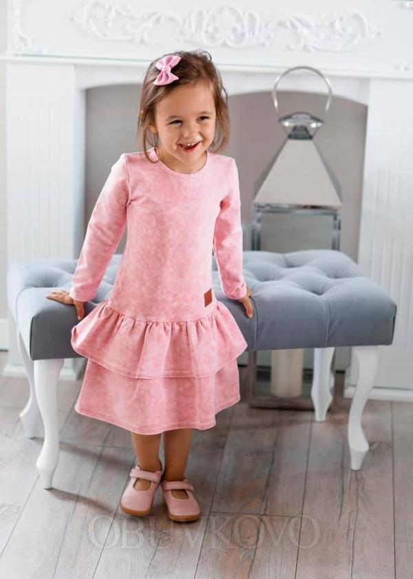 Dievčenské šaty tunika pink
