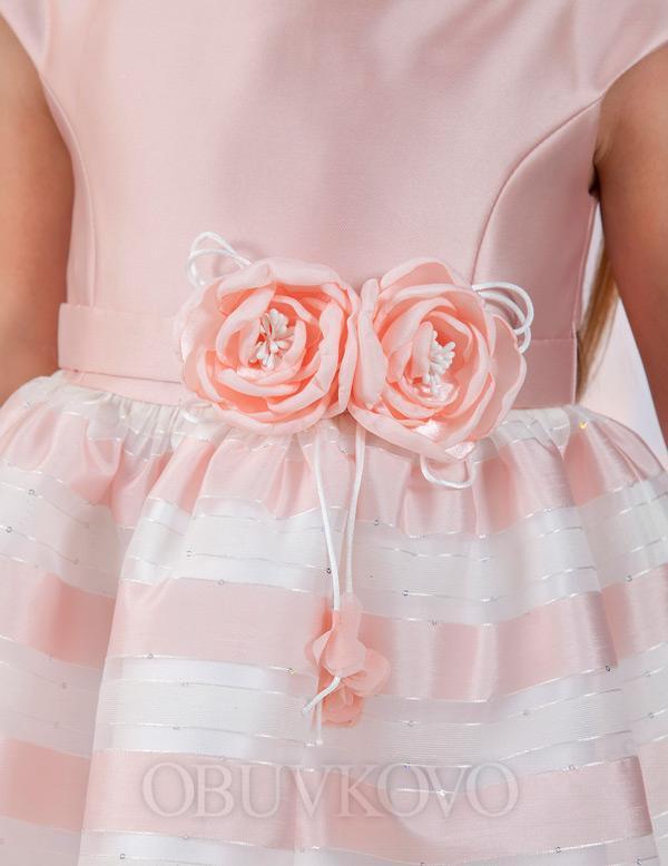 Exkluzívne romantické dievčenské šaty z organzy ABEL&LULA