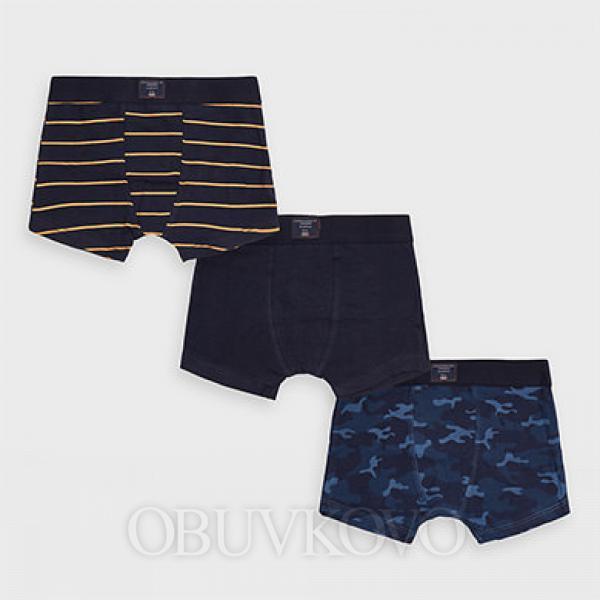 Mayoral spodné prádlo - boxerky 3ks  10854-080 navy