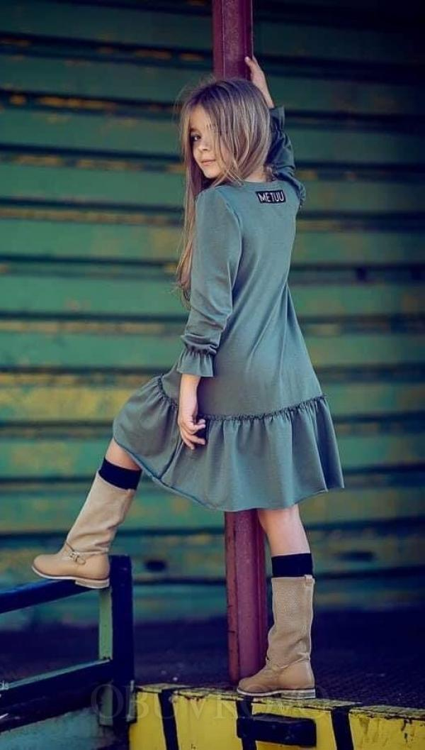 Dievčenské šaty tunika ME TUU - green 503 blue Me Tuu