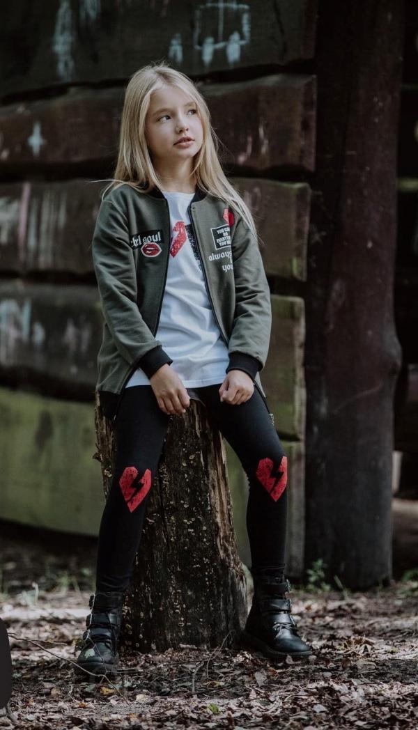 Dievčenská mikina kabátik na zips