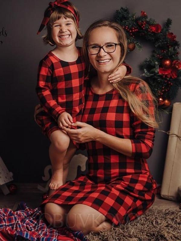 Vianočná bavlnená tunika MAMA DCÉRA