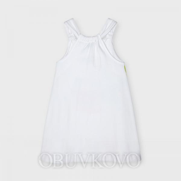 MAYORAL dievčenské letné šaty 3955-054 white