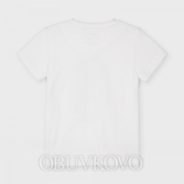 MAYORAL chlapčenské tričko s krátkym rukávom 3030-056 white
