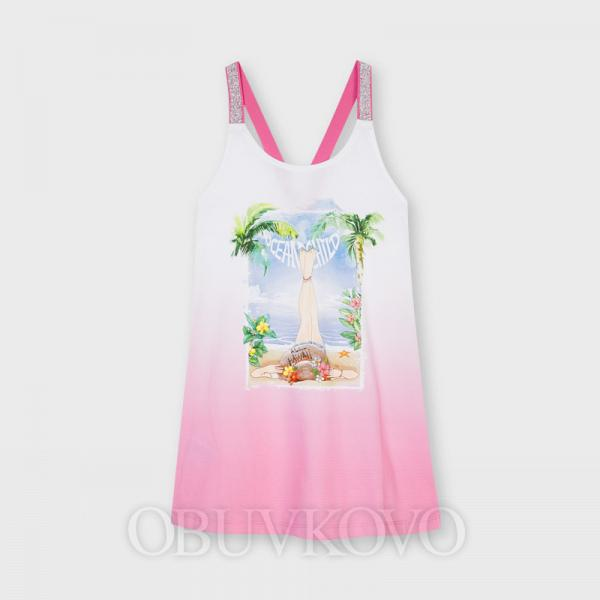 MAYORAL dievčenské letné šaty 6949-084 camelia
