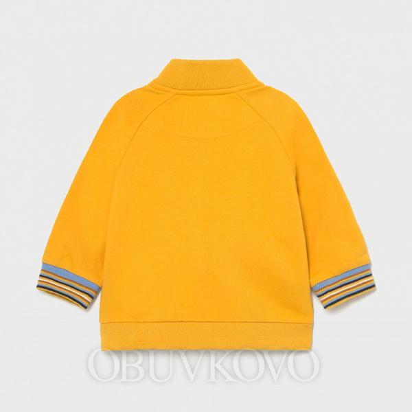Žltá chlapčenská mikina MAYORAL 1407-074 mango