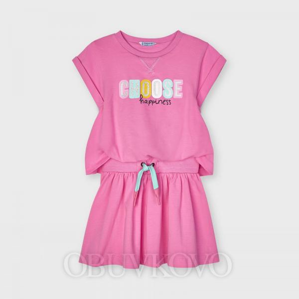 MAYORAL dievčenské ružové šaty 3958-091