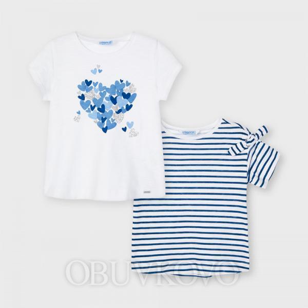 MAYORAL dievčenské tričko 2-balenie 3009-027