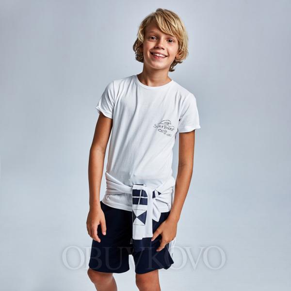 Biela chlapčenská mikina MAYORAL 6484-047