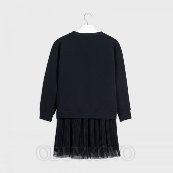 MAYORAL dievčenské šaty bavlnené 7965-029 navy