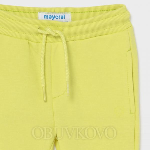 MAYORAL chlapčenské teplákové nohavice 711-074 lime
