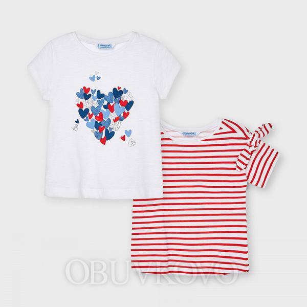 MAYORAL dievčenské tričko 2-balenie 3009-028 red