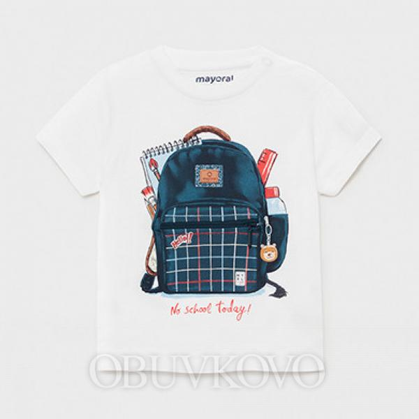 MAYORAL chlapčenské letné tričko 1011-025 white