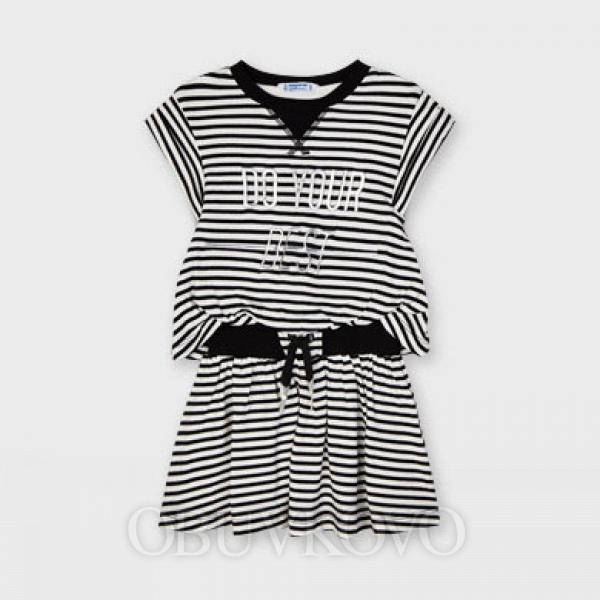 MAYORAL dievčenské  šaty 3966-064 black