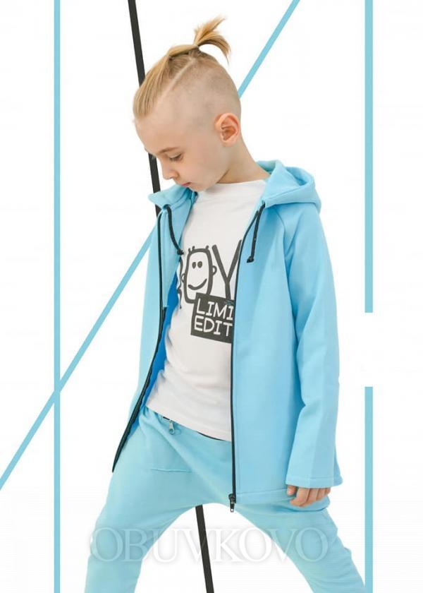 Chlapčenská predlžená mikina ICONIC BOY BLUE