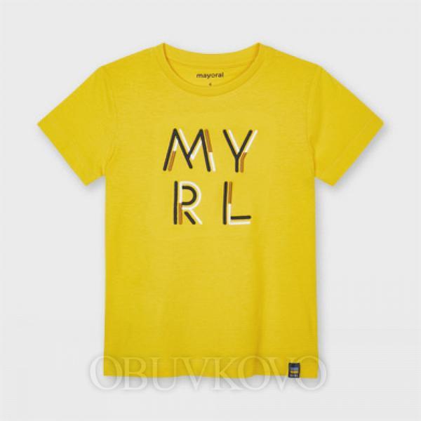 MAYORAL basic chlapčenské tričko 170-013yellow