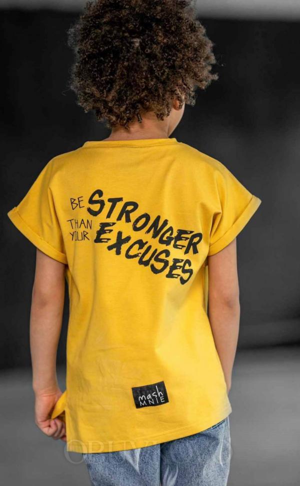 Chlapčenské tričko s krátkym rukávom YELLOW