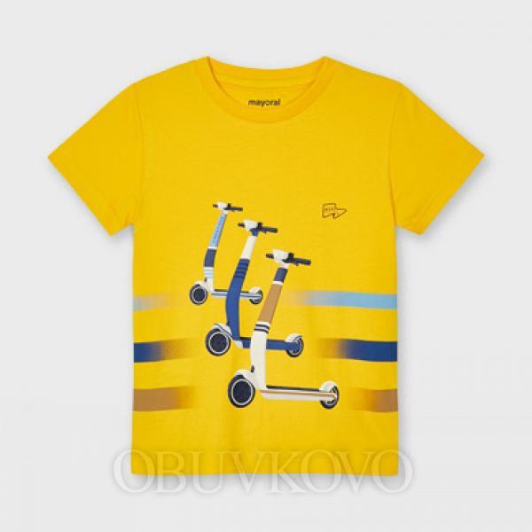 MAYORAL chlapčenské tričko s krátkym rukávom 3037-027 sol