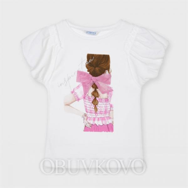 MAYORAL dievčenské tričko s krátkym rukávom 6002-072 camelia