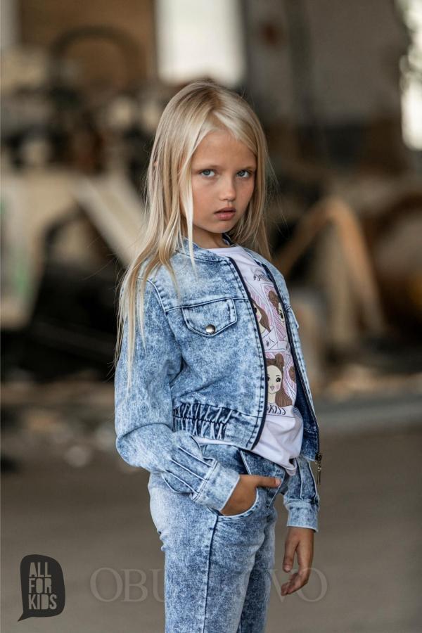 Dievčenský rifľový kabát