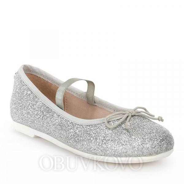 MAYORAL dievčenské balerínky 43621-085 silver