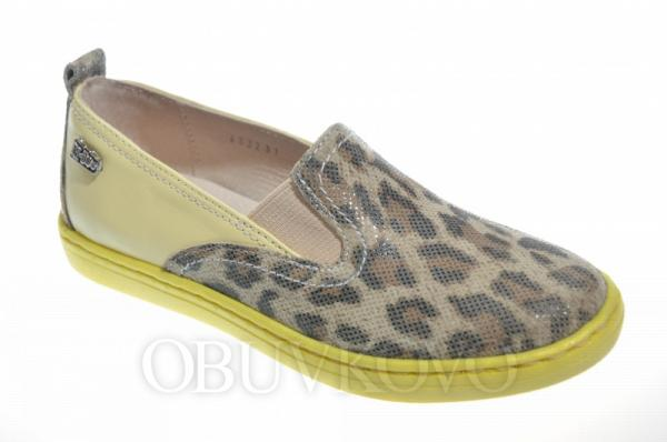 Kožená dievčenská obuv RENBUT 33-4322 yellow