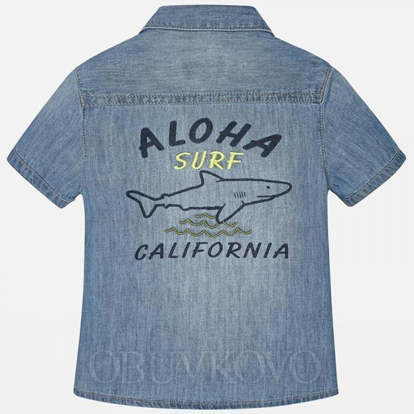 MAYORAL chlapčenská košeľa 1158-005 Denim