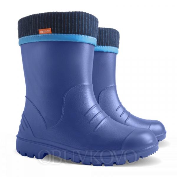 Ultra ľahké gumáky s vyberateľnou vložkou DEMAR DINO modré
