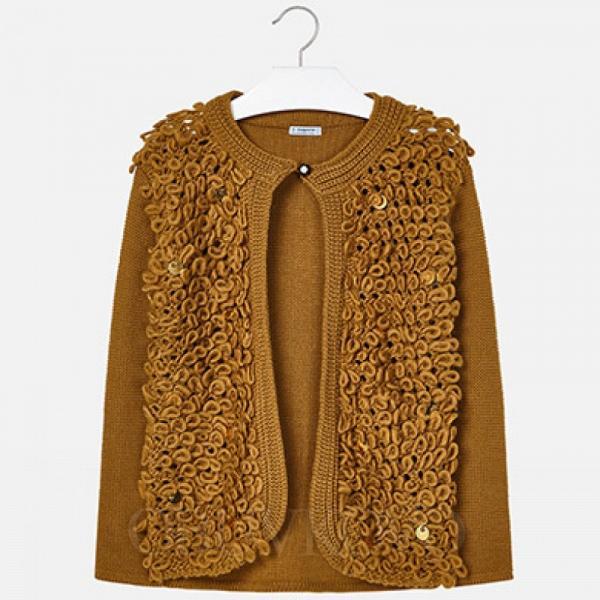 MAYORAL dievčenský  kabát 7328-026 mustard