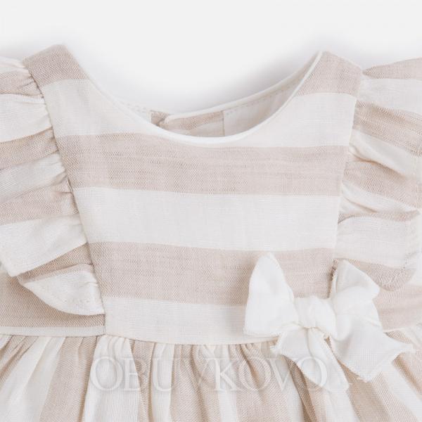 Mayoral dievčenské šaty 1818-023 Nougat