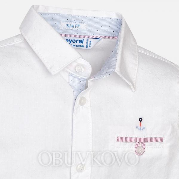 MAYORAL chlapčenská košeľa 1170-056 White