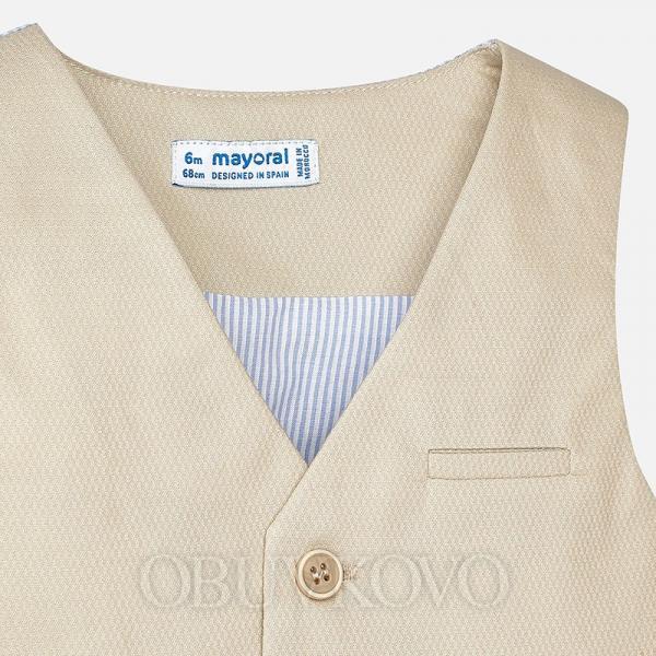 MAYORAL chlapčenská vesta 1442-073 Beige