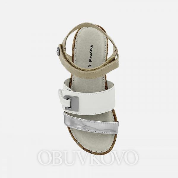 MAYORAL dievčenské sandále 43897+45897-051 White